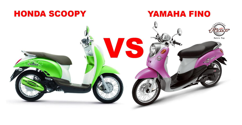 Komparasi Honda Scoopy Vs Yamaha Fino Sama Sama Klasik Berenergik